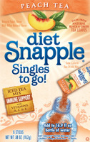 Diet Snapple Singles to go - Peach Tea