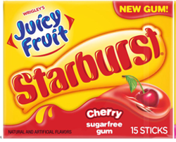 Starburst Cherry Juicy Fruit Gum