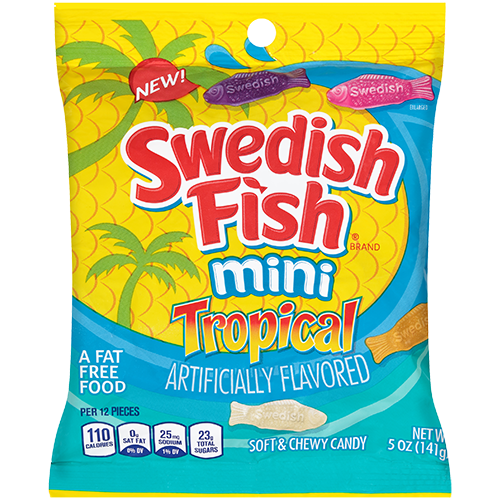 Swedish Fish Tropical 141g Jellybeans Gums