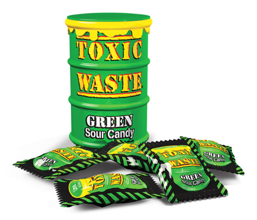 Toxic Waste Green Drum Cukierki