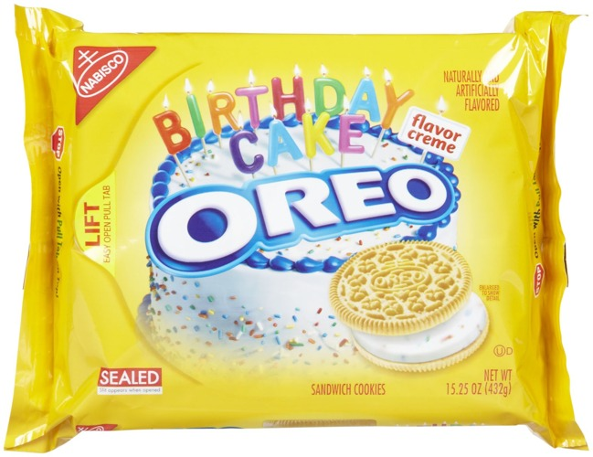 Oreo Golden Birthday Cake Biscuits