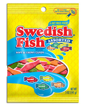 Swedish fish assorted bag jellybeans gums for Assorted swedish fish