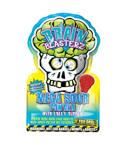 Brain Blasterz Mega Sour Powder - Blue Raspberry