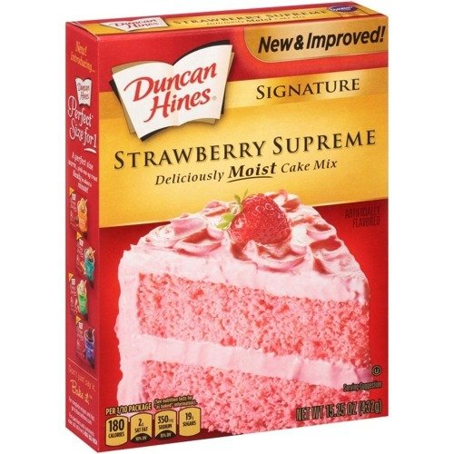 Duncan Hines Deliciously Moist Strawberry Supreme Cake Mix