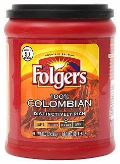Folgers 100% Colombian Coffee 292g