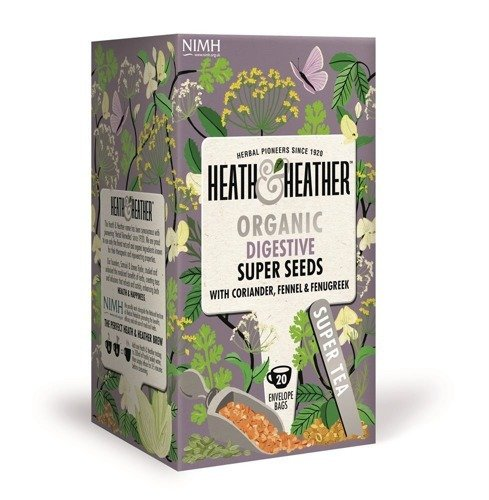 Heath & Heather Organic Super Seeds 20 Tea Bags