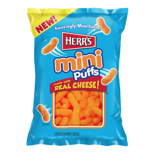 Herr's Mini Cheese Puffs 6oz BIG BAG 170g