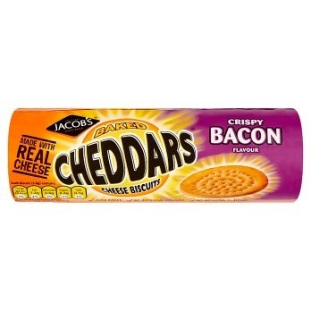 Jacobs Baked Cheddars Cheese Biscuits Crispy Bacon 150g