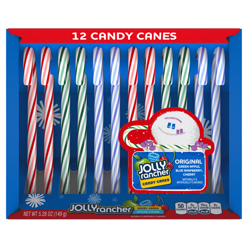 Jolly Rancher Assorted Candy Canes 12 Pack