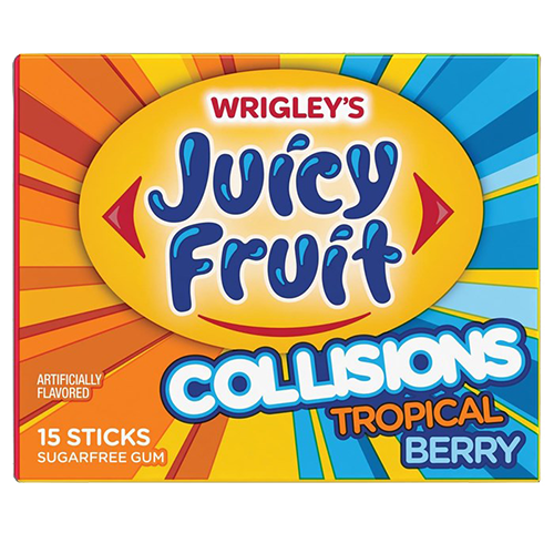 Juicy Fruit Collisions Tropical Berry Gum