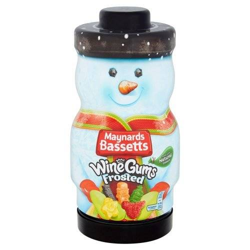 Maynards Bassetts Wine Gums Frosted Snowman Jar 495g