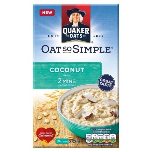 Quaker Oat So Simple Coconut