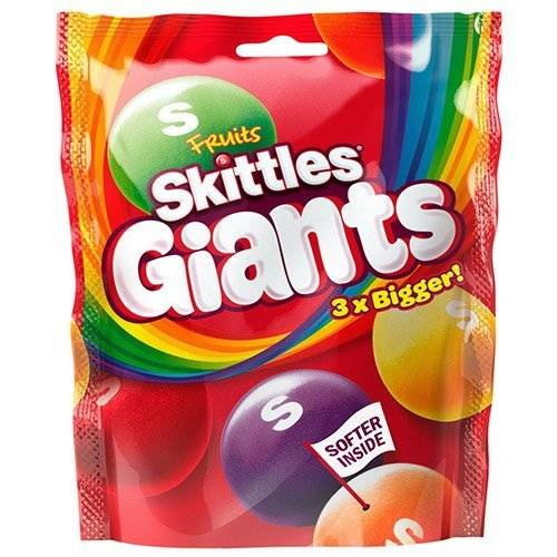 Skittles Giants Fruit Sweets Pouch 170g