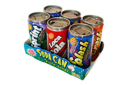 Soda Can Fizzy Candy 6pk 42g