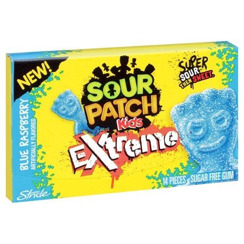 Sour Patch Kids Extreme Blue Raspberry Gum