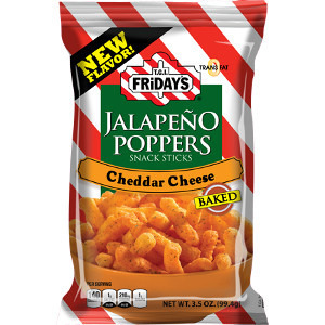 TGI Fridays Jalapeno Poppers Snack Sticks Cheddar Cheese 99,4g