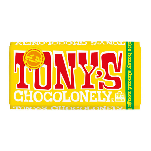 Tony's Chocolonely Milk Chocolate Almond Honey Nougat 180g