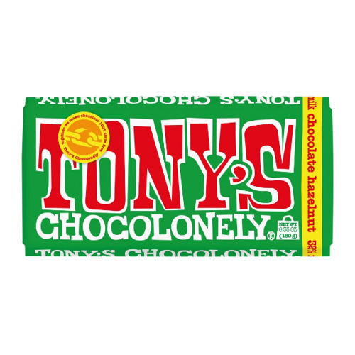 Tony's Chocolonely Milk Chocolate Hazelnut 180g