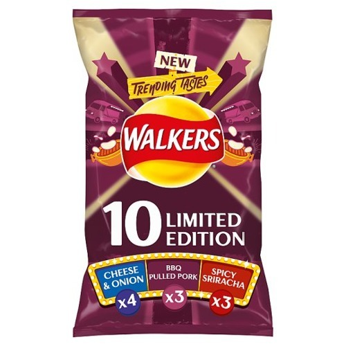 Walkers Limited Edition Trending Tastes Variety Crisps 10x25g