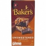 Baker's Unsweetened Chocolate Baking Bar 113g