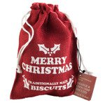 Farmhouse Biscuits Red Hessian Bag with Choc Chip & Orange Biscuits 125G