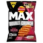 Walkers Max Double Crunch Bold BBQ Ribs Crisps 140g