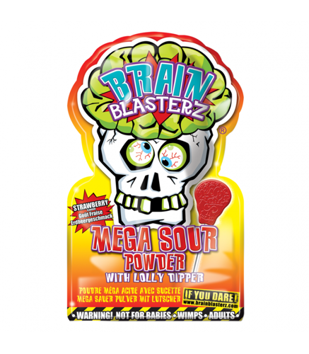 Brain Blasterz Mega Sour Powder - Strawberry