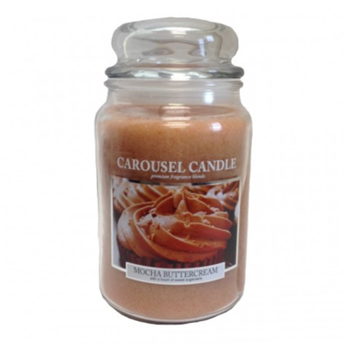 Carousel Candle - Mocha Buttercream Large Jar