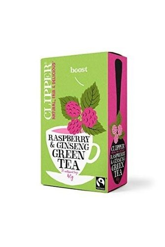 Clipper Green Tea with Ginseng enhanced with Raspberry flavour 20 Tea Bags