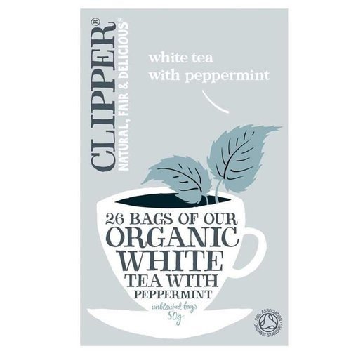 Clipper Organic White Tea With Peppermint 26 Bags 50g