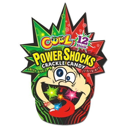Cool Power Shocks Crackle Candy (12 Pack)