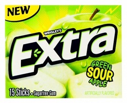 Green Sour Apple Extra Gum
