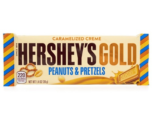 Hershey's Gold With Peanuts and Pretzels