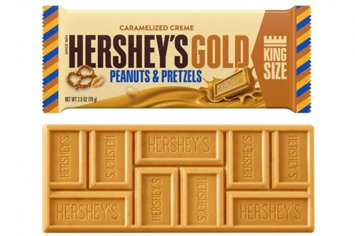 Hershey's Gold With Peanuts and Pretzels King Size