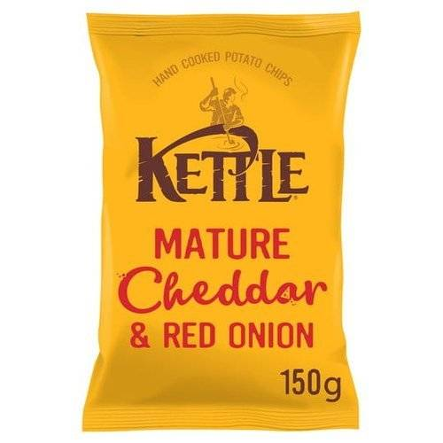 KETTLE® Mature Cheddar & Red Onion British Potato Chips 150g