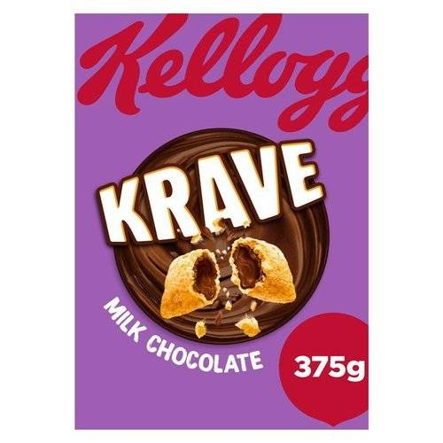 Kellogg's Krave Milk Chocolate Cereal 375g