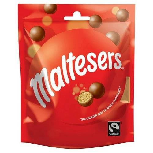 Maltesers Fairtrade Chocolate Pouch 102g