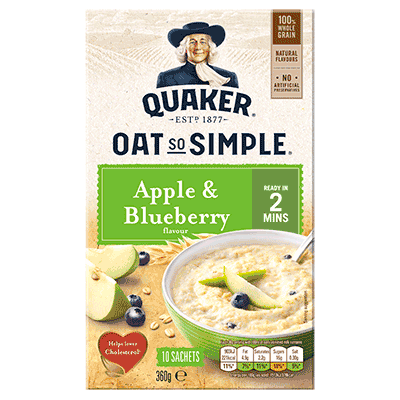 Quaker Oat So Simple Apple & Blueberry