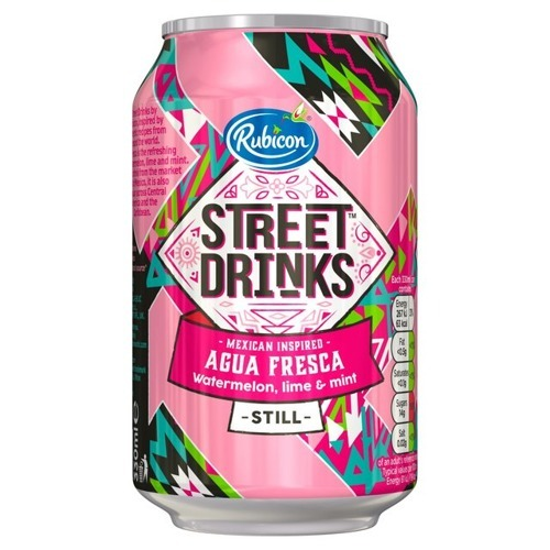 Rubicon Street Drinks, Agua Fresca - Watermelon, Lime & Mint 330ml