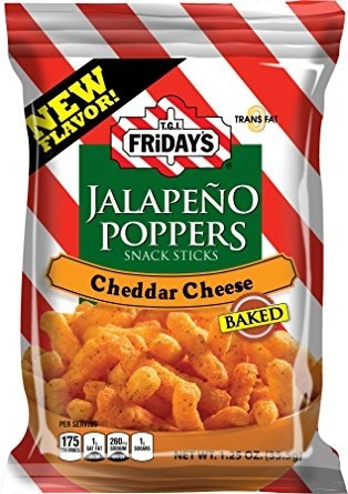 T.G.I. Fridays Jalapeno Poppers Snack Sticks Cheddar Cheese