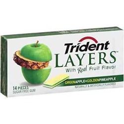 Trident Layers Green Apple Pineapple