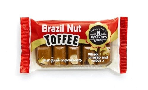 Walkers' Nonsuch Brazil Nut Toffee, bar 100G